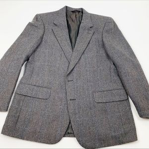 Burberry Gray 2 Button Wool Blazer Sports Coat